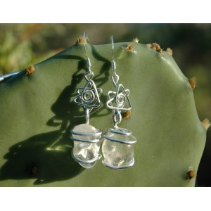 "Boucles d'oreilles ""Estrella Brasileña"" avec grandes pierres naturelles"