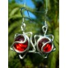 """Boucles d'oreille """"etoiles"""" avec métal+verre colorés"""