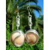 """Boucles d'oreille """"nudo"""" en métal+verre colorés"""