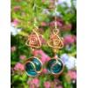 """Boucles d'oreille """"estrella brasileña"""" en métal+verre colorés"""