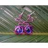 """Boucles d'oreille """"maya"""" avec fil+verre colorés"""
