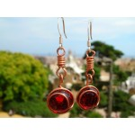 """Nudo"" copper earrings"