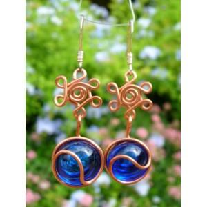 """""""Rosas"""" copper earrings"""