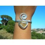 "Bracelet ""spirale"" avec spirale ouverte et citrine"