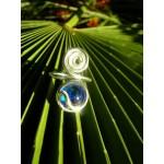 Bague spirale bleue claire