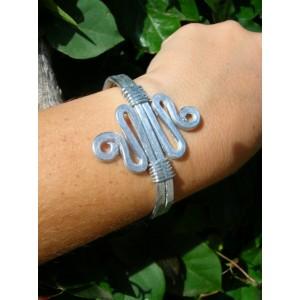 """Bracelet martelé """"double zig-zag"""""""