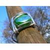 Gros bracelet carré avec vert