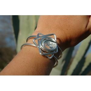 """Bracelet """"etoile"""" avec verre coloré"""