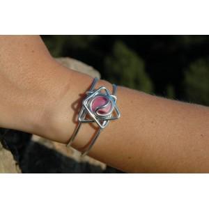 """Bracelet """"petite étoile"""" avec verre coloré"""