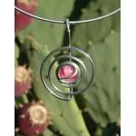 "Petit pendentif ""spirale"" rose"