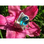 """Star"" ring with colored glass"
