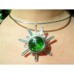 """Sunshine"" pendant with colored glass"