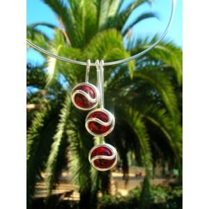 """Triptik"" pendant with colored glass"