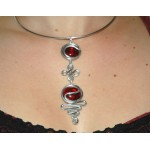 """Rachel"" necklace with colored glass"