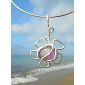"""""""Flor"""" pendant with natural stone"""
