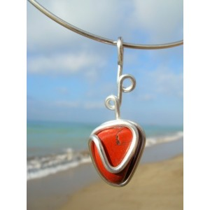 """""""Liere"""" pendant with natural stone"""