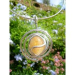 """""""Spirale"""" pendant with natural stone"""