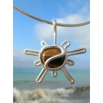 """Sunshine"" pendant with natural stone"