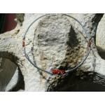 Pendentif avec pierres naurelles