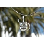 """""""Esse"""" pendant with big natural stone"""