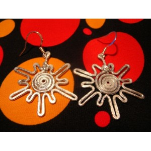 """Sunshine"" pound earrings"