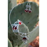 """""""Flor"""" whole set with colored glass"""