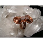 Copper ring with mountain cristal