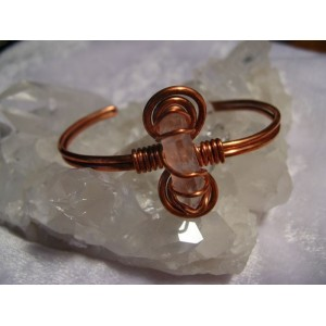 Copper bracelet with mountain cristal