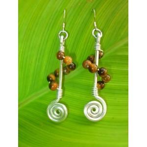 """""""Molecule"""" earrings"""