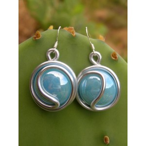 """ying-yang"" big earrings"