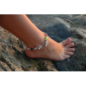 """Petits poissons"" hand-made anklet"