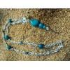 Le sautoir EtniKa alu et graines bleues