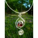 """""""Aladdin"""" pendant with colored glass cabochon"""