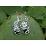 """""""Nuage"""" earrings with small natural stones"""