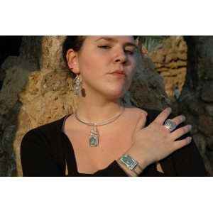 """""""Echelle"""" whole set with natural stones"""