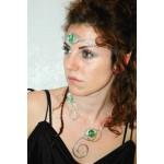 Diadème/serre-tête Celtique avec verre coloré