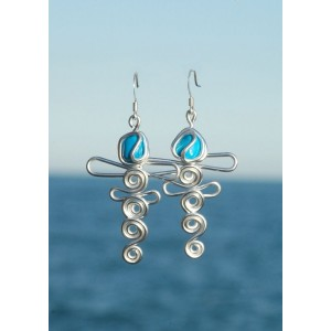 """""""Libellules"""" earrings with small natural stones"""