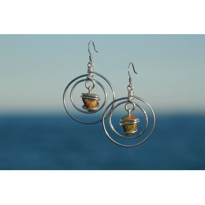 """Planeta"" earrings with natural stones"