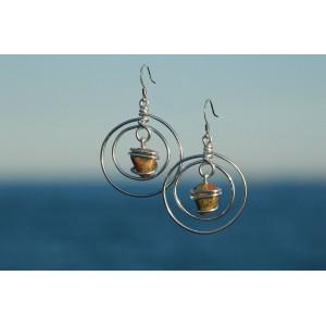 """Boucles d'oreilles """"Planeta"""" avec pierres naturelles"""