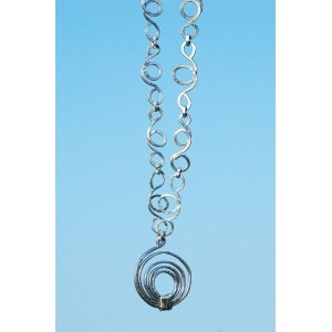 Hammered long necklace with big spirale