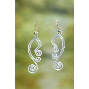 """""""Tribalistik"""" hammered earrings"""