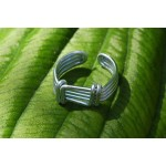 Hammered ring for men