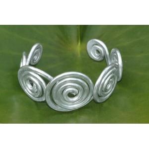 """Bracelet martelé """"Multi-spirales"""""""