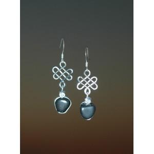 """Boucles d'oreilles """"Saïgon"""" avec fines pierres naturelles"""