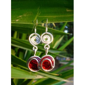 "Boucles d'oreilles ""point d'interrogation"""