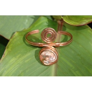 """Bracelet """"spirale"""" avec pierres naturelles"""