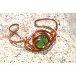 """Bracelet """"Celtique"""" avec verre coloré"""