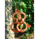 """Double ring"" pound earrings"