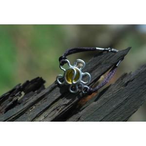"""Bracelet """"Flor"""" sur cordon"""
