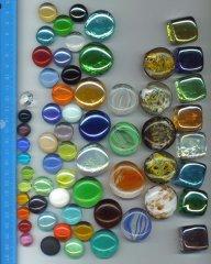 cabochons en verre coloré-Echelles-3